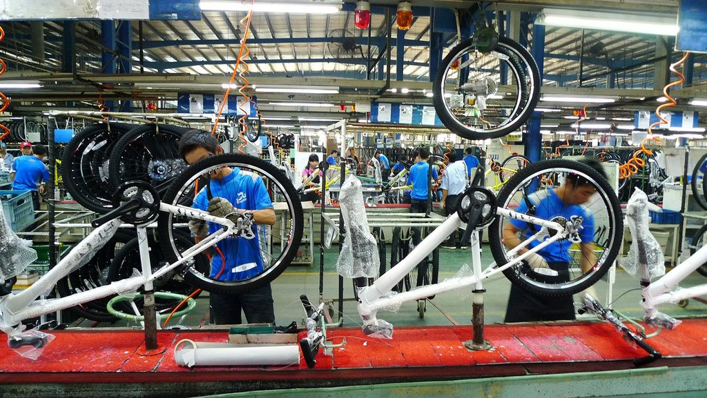 Giant bicycle factory.