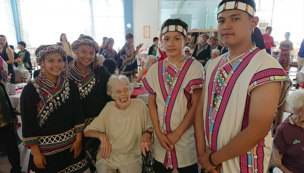 The Juann Choir after their performance at a retirement home in Austria.