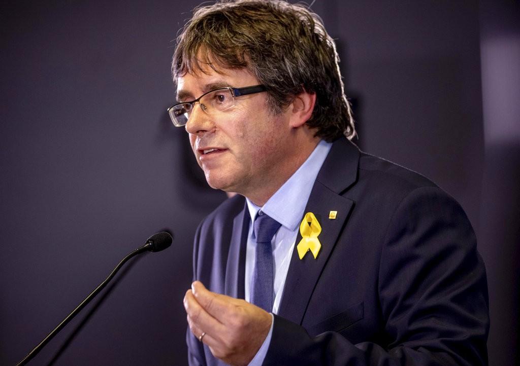 加泰隆尼亞獨立派領袖,卡萊斯·普吉德蒙(Carles Puigdemont)(美聯社)