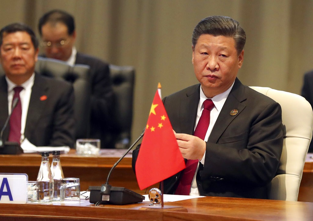 Xi during BRICS summit in Johannesburg on July 27.