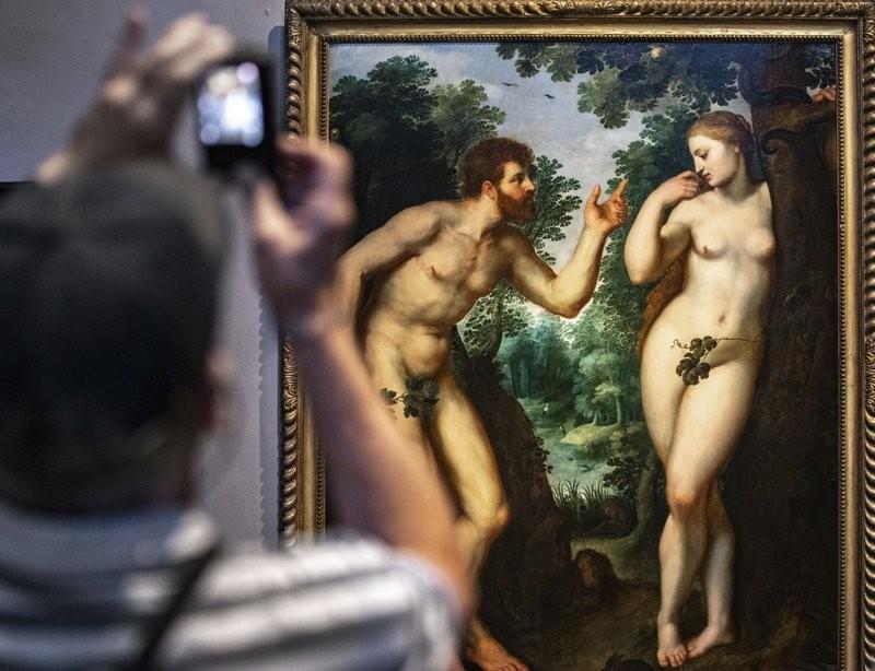 魯本斯畫作_亞當與夏娃(美聯社)