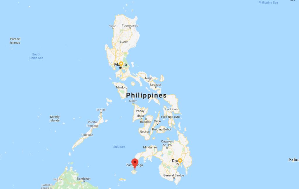 菲律賓巴西蘭省位置(翻攝自GoogleMap)