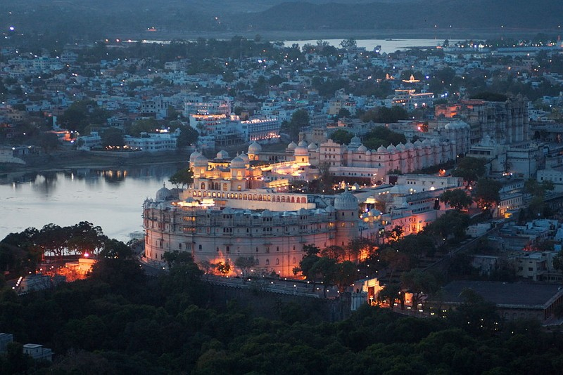 印度城市烏代浦(圖/wikimedia commons)