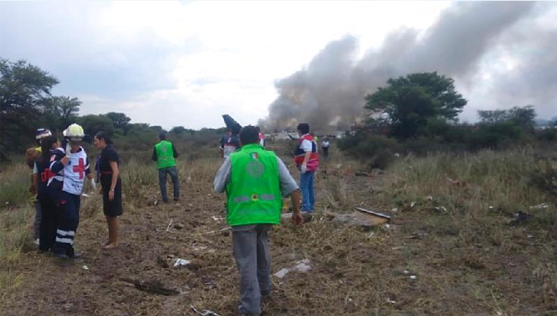 墨西哥在當地時間2018年7月31日下午4點左右發生飛機事故(美聯社)