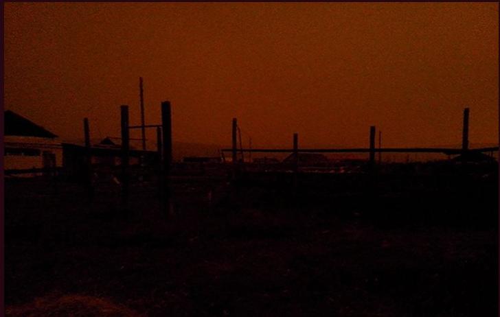 西伯利亞的太陽離奇消失3小時(圖片來源:截取自The Siberian Times推特)