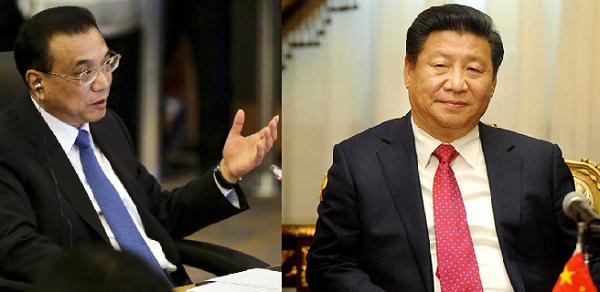 Li Keqiang and Xi Jinping