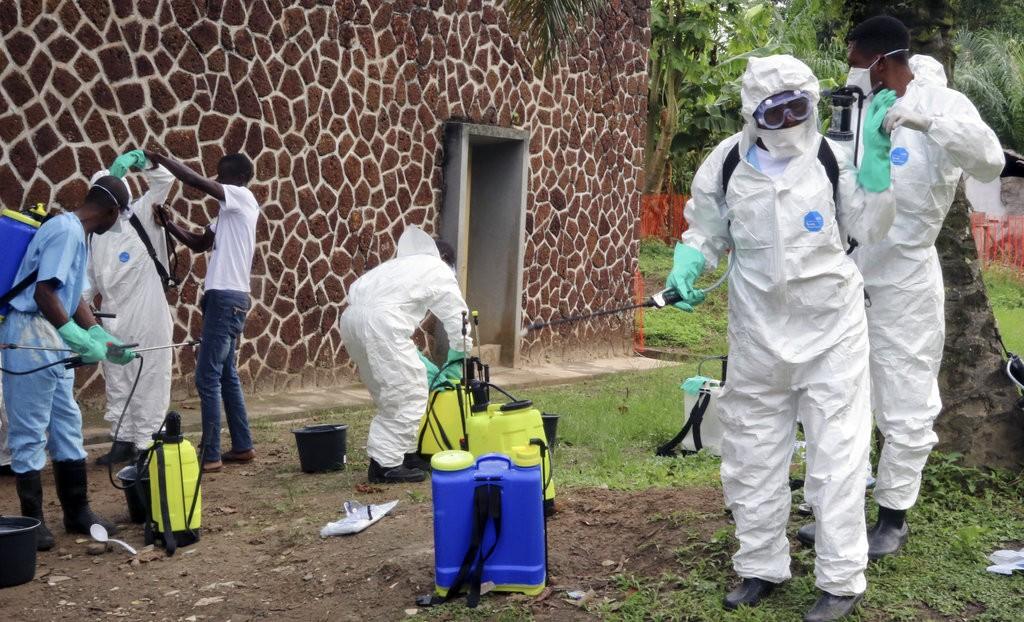 剛果衛生人員資料照(美聯社提供)