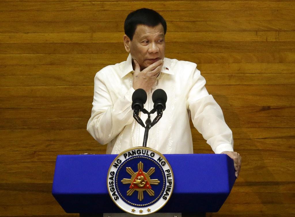 Duterte in Manila on July 23, 2018.