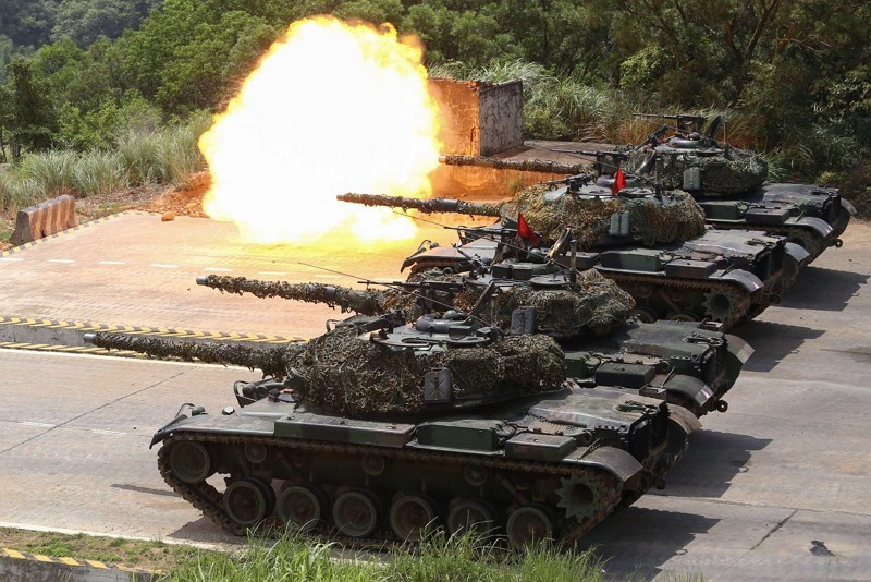Taiwan military drill. (Photo from Defense Ministry spokesman Facebook page)