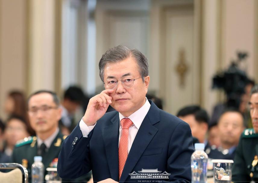 南韓總統文在寅(翻攝自南韓總統府臉書)