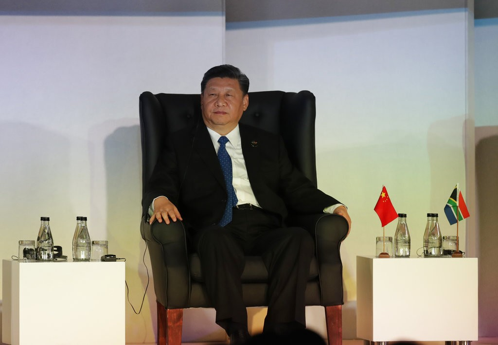 Xi Jinping at BRICS Summit in South Africa, July 25.