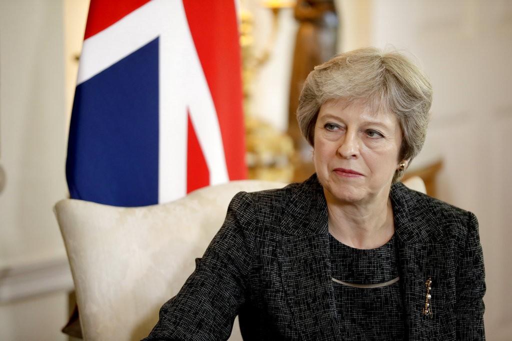 英國首相德蕾莎·梅伊(Theresa May)(美聯社)