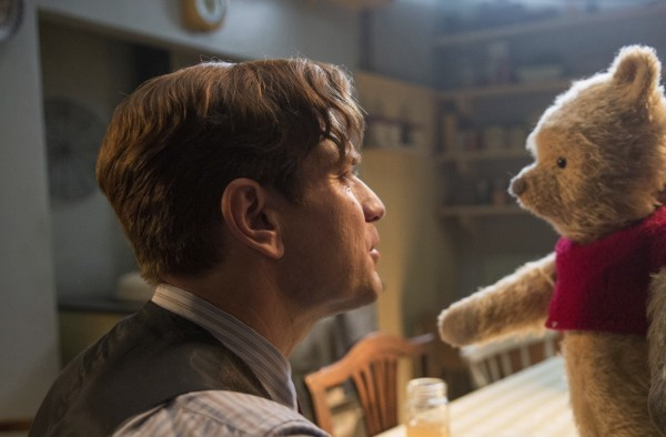 Ewan McGregor and Winnie the Pooh in the movie 'Christopher Robin.'