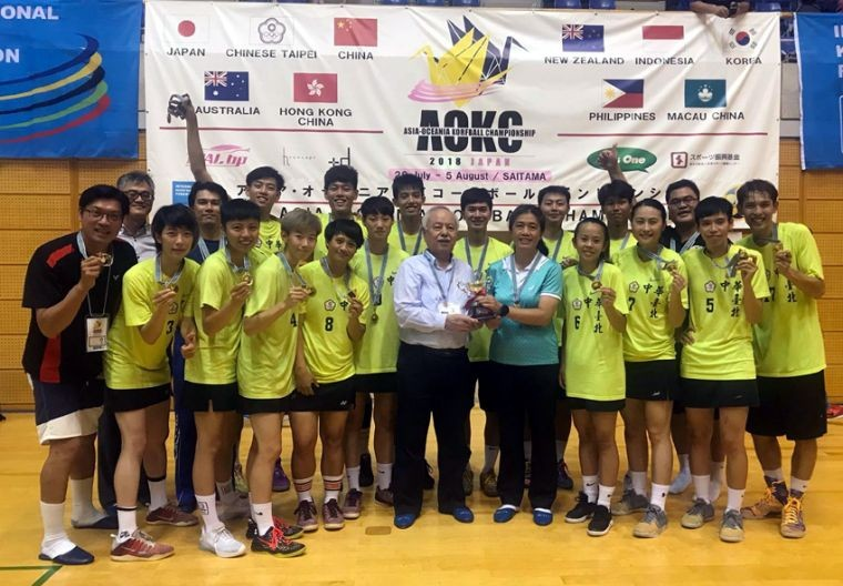 Team Taiwan with gold medals in Saitama, Japan (Image from Chinese Taipei Korfball Association Fb page)