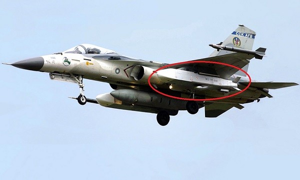IDF fighter jet carrying two Wan Chien missiles.