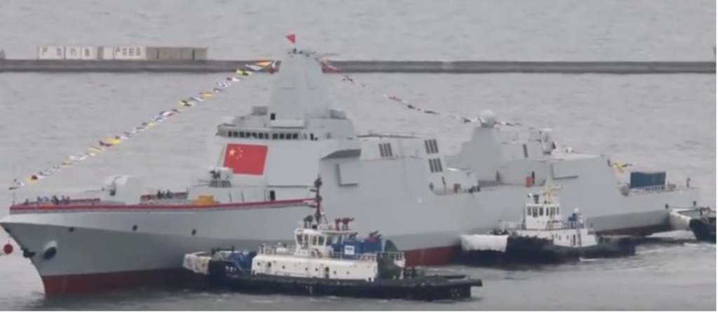 Chinese Type 055 destroyer (Screenshot from Youtube)