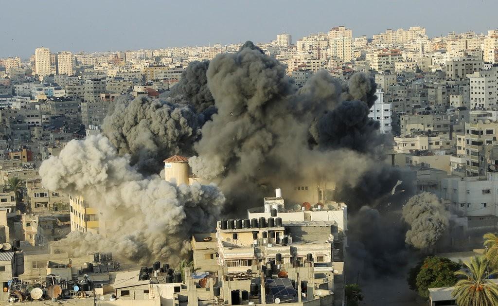 以色列攻擊加薩走廊情況(美聯社)