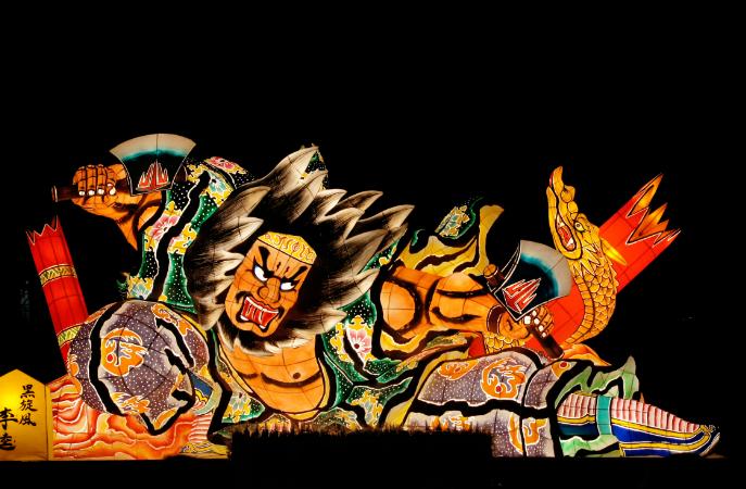 日本青森睡魔祭(翻攝自維基百科)