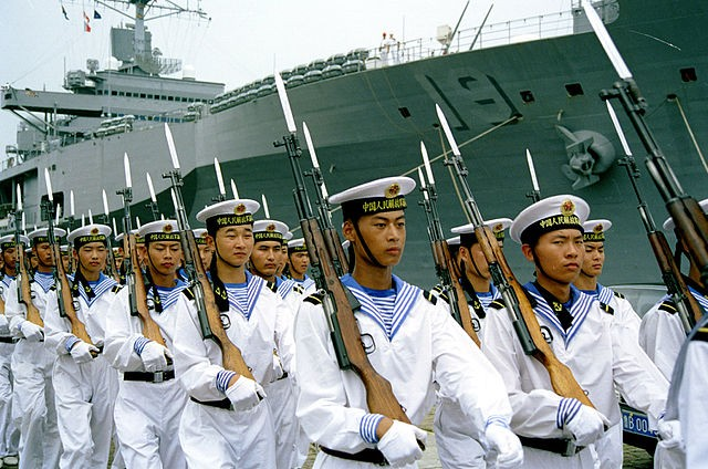 Chinese navy sailors.