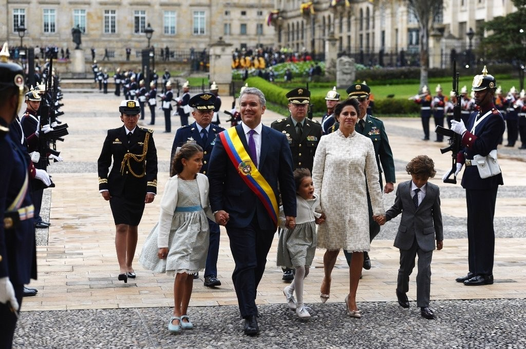 哥倫比亞總統杜奇(Iván Duque Márquez)(美聯社)