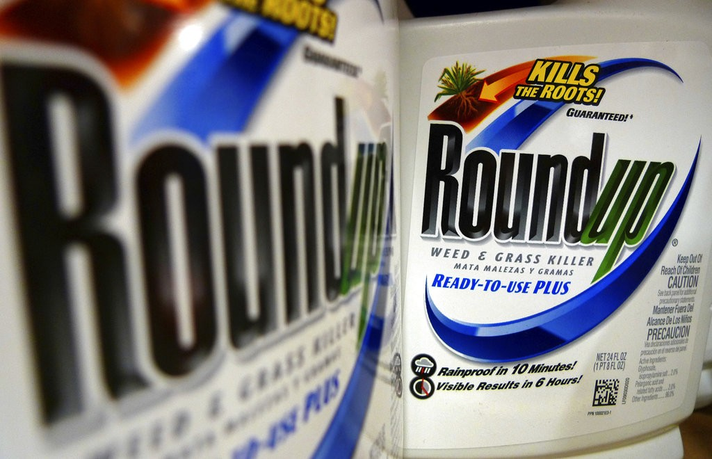 Bottles of Roundup herbicide, a product of Monsanto (AP)