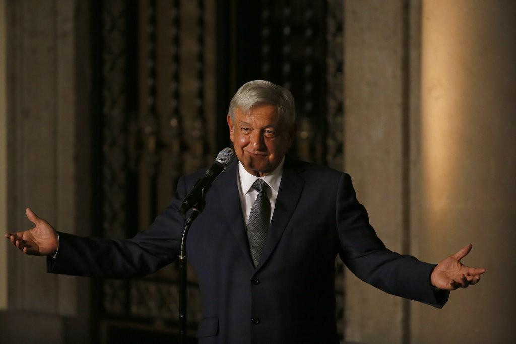 墨西哥候任總統羅培茲·歐布拉多(Lopez Obrador )(美聯社)
