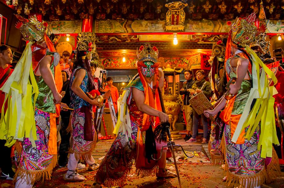 泰國國際旅展邀台灣「官將首」陣頭表演揭序幕(照片來源:flickr)