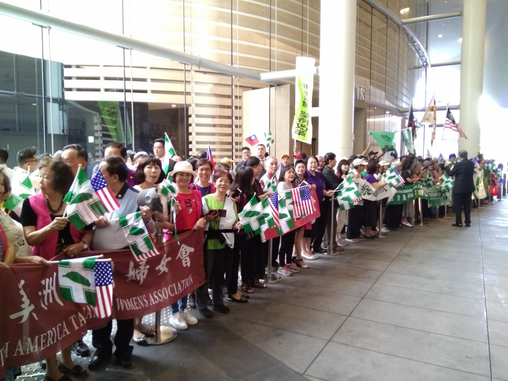 Taiwan President receives warm welcome in LA