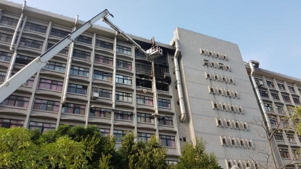 Fire in 7th floor of Taipei Hospital.
