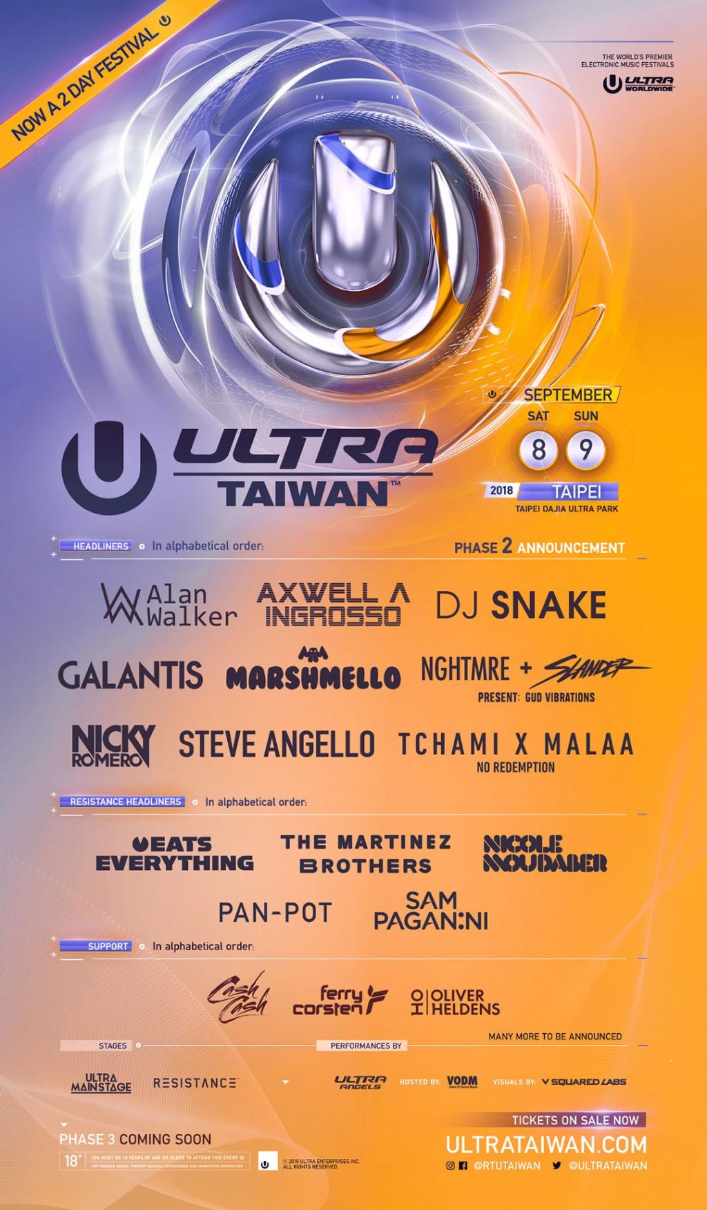 首屆電音 UlLTRA Taiwan 音樂節!大佳河濱公園9月第一週末登場