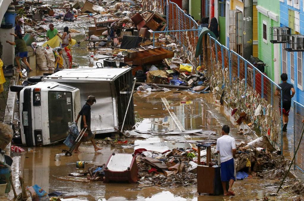 An image from Marikina city after Typhoon Yagi (Aug. 12)
