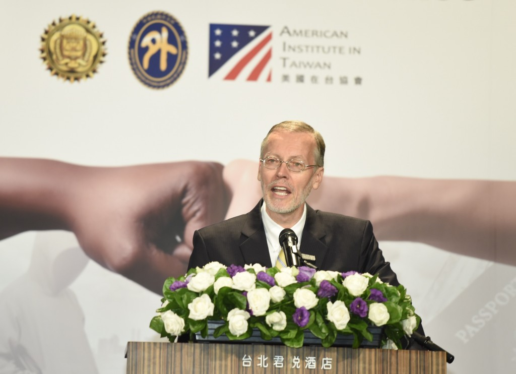 AIT Director William Christensen attends the opening ceremony of a GCTF workshop in Taipei on August 14 (Teng Pei-ju/Taiwan News)