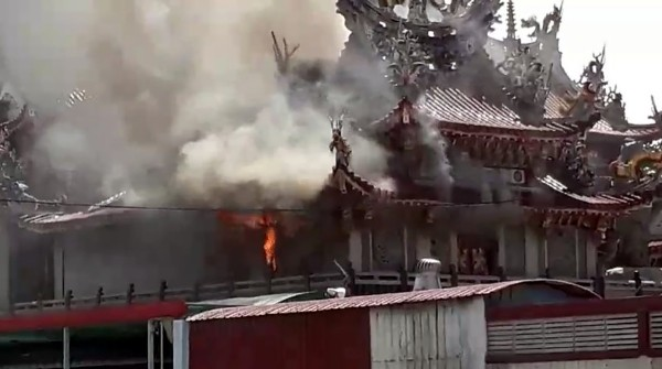 Fire in Beigang Wude Temple.