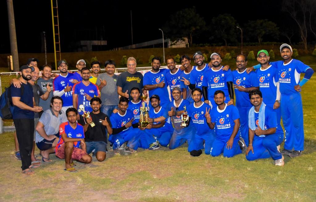Hsinchu Titans with Formosan Cricket Club after final match. (Image courtesy of Hsinchu Titans)