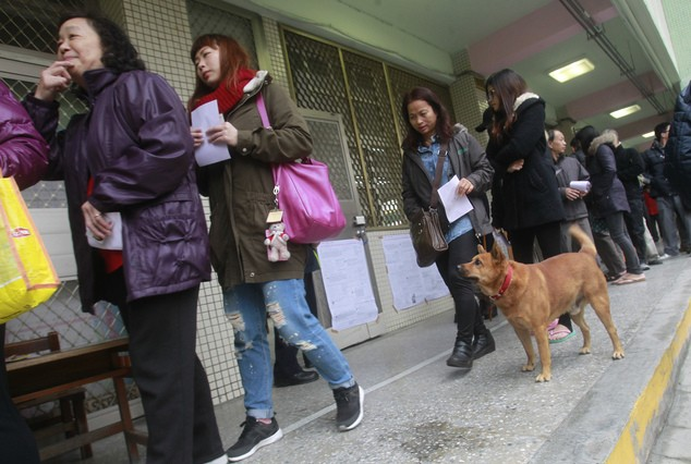 Taiwanese voters going to the polls in a previous election.