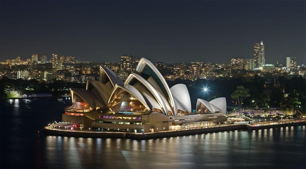 澳洲雪梨著名觀光景點雪梨歌劇院(Sydney Opera House)(照片來源:Wikipedia)