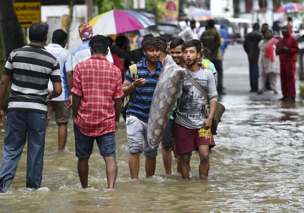 印度豪雨(美聯社)