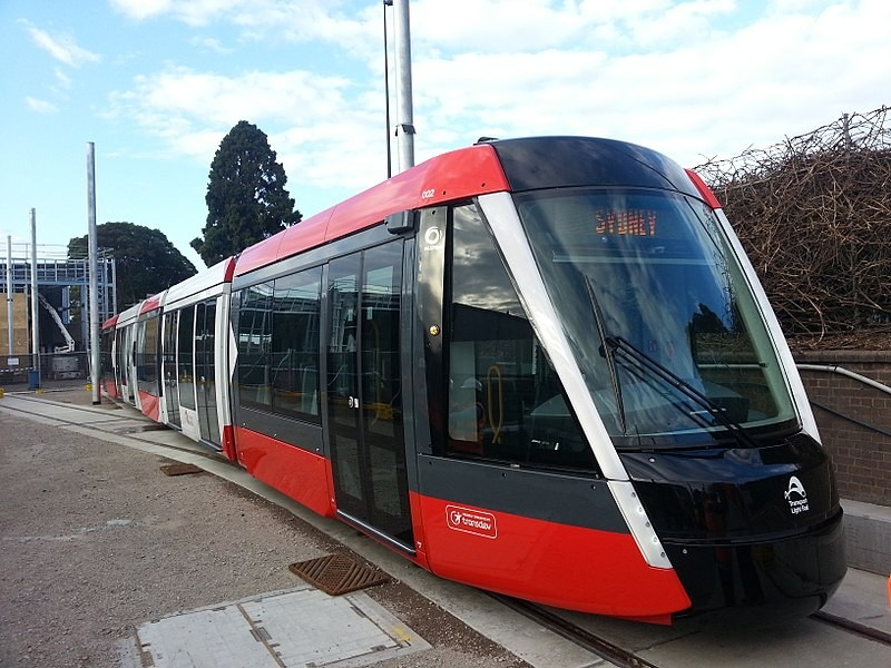 Alstom Citadis 305 in Sydney, AUS. Kaohsiung's LRV will be white and green