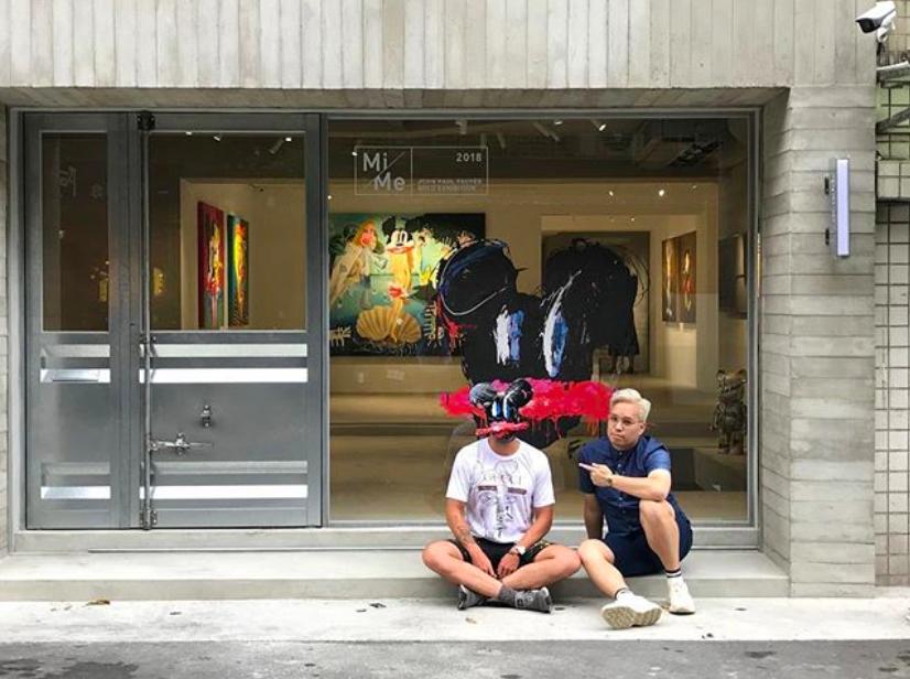 哥斯大黎加蒙面藝術家來台北舉辦個展(照片來源:John Paul Fauves Instagram)