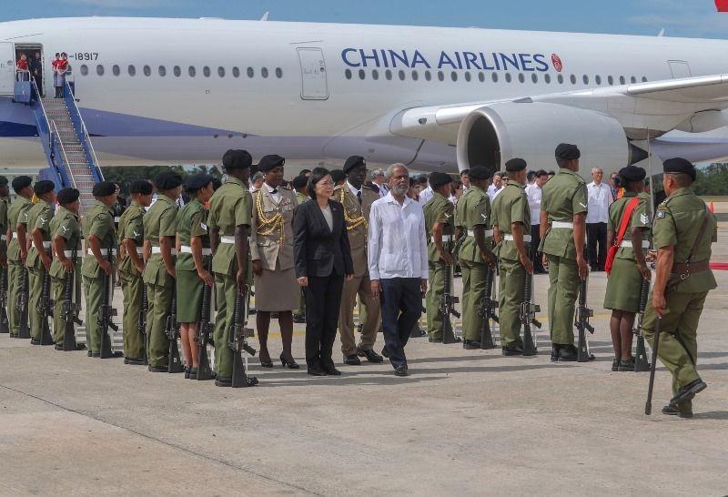 President Tsai arriving in Belize