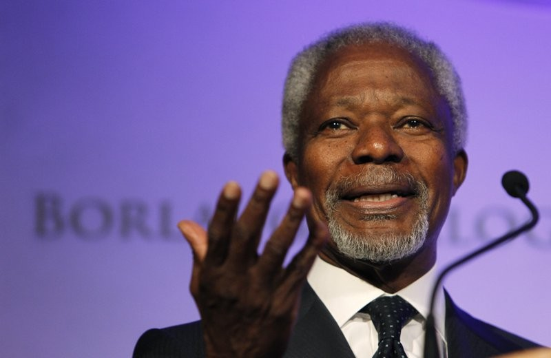 Late UN Secretary General Kofi Annan.