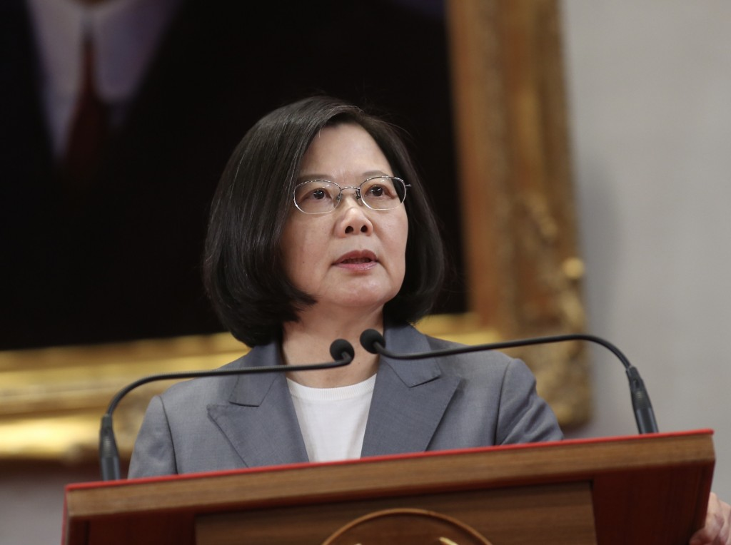 President Tsai Ing-wen makes remarks on August 21 after Taiwan severs diplomatic ties with El Salvador