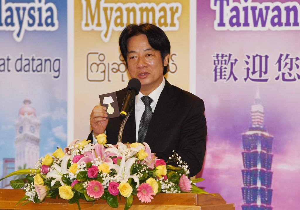 William Lai in Taipei on August 20.