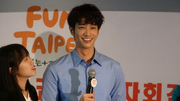 Jasper Liu at Fun Taipei in Seoul. (Photo Courtesy of Central News Agency)