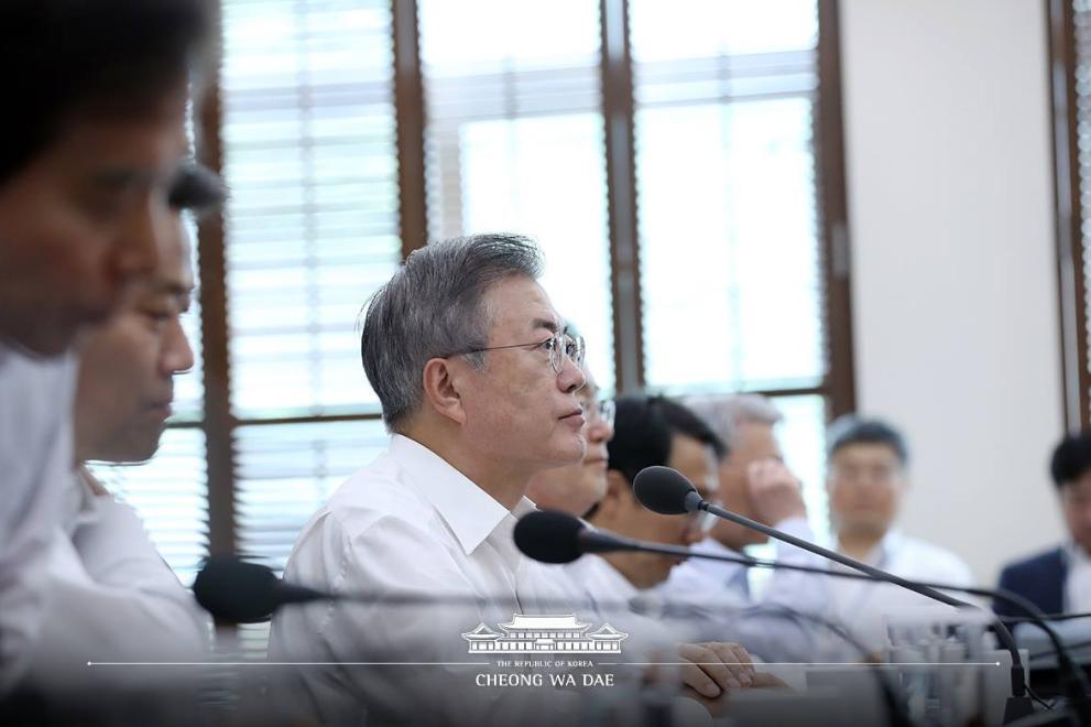 南韓總統文在寅(翻攝自其臉書)
