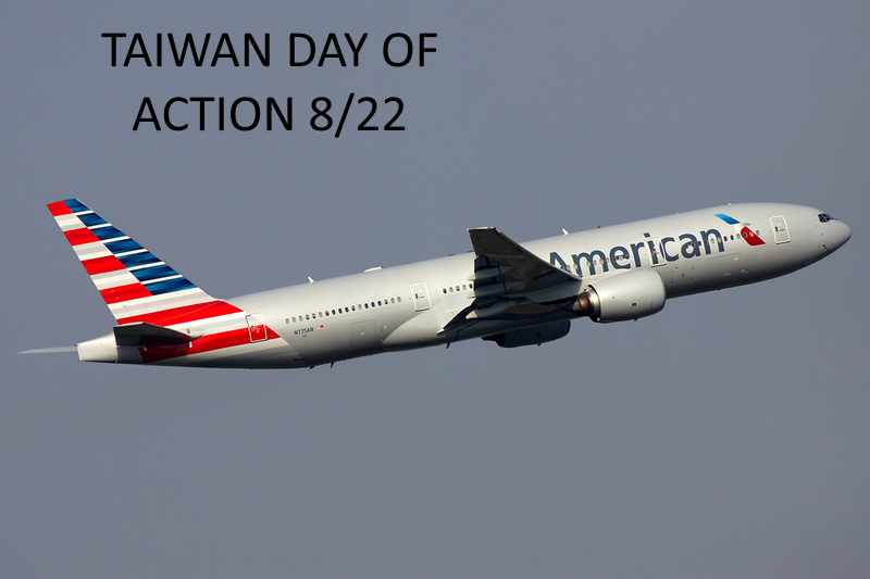 """""""Taiwan Day of Action 8/22"""""""