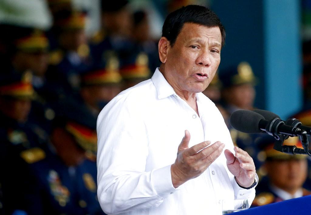 Duterte in Quezon city on August 8.