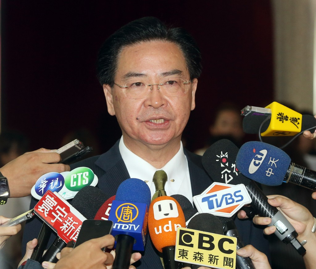 Taiwan's Foreign Minister Joseph Wu denies on August 22 that the country's diplomatic ties with eSwatini are at risk