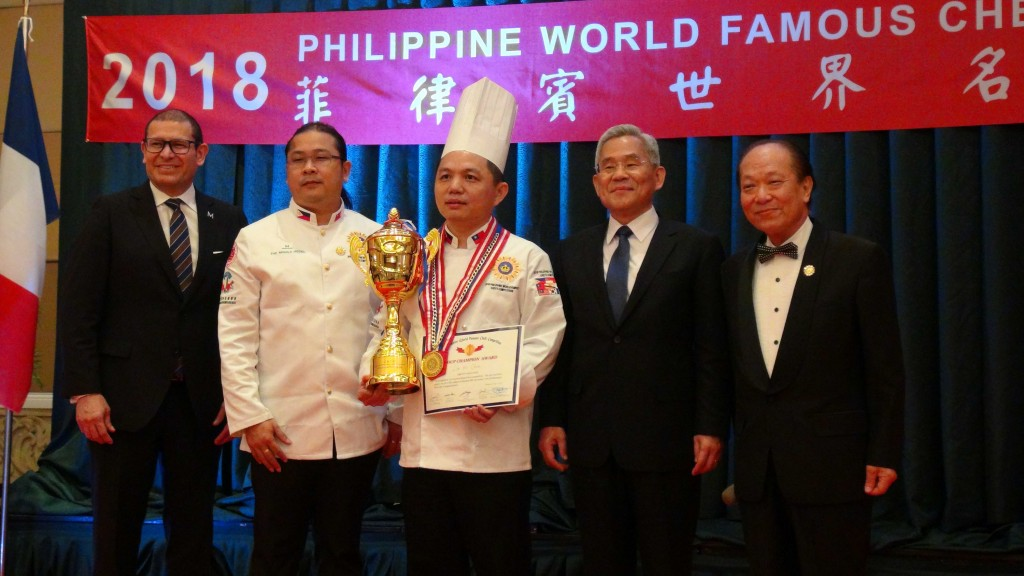 Taiwanese chef is the winner for the Individual Group at the 2018 Philippine World Famous Chefs Competition (CNA)