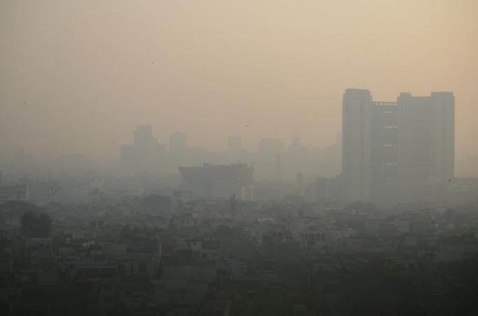 印度空氣污染示意圖(翻攝自Flickr)